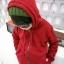 Huanshu kids เสื้อกันหนาวแฟชั่นเด็กสีแดงมีฮูท เก๋มาก น่ารักสไตล์เกาหลี ( ผ้าหนา ) ขนาด120 thumbnail 3