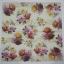 แนวภาพดอกไม้ เป็นช่อดอกไม้ 3 ช่อ บนพื้นสีครีม เป็นภาพกระจายเต็มแผ่น กระดาษแนพกิ้นสำหรับทำงาน เดคูพาจ Decoupage Paper Napkins ขนาด 33X33cm thumbnail 2