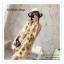PR030-B ผ้าพันคอแฟชั่น ผ้าไหม พิมพ์ลายสวย ขนาด ยาว 190 กว้าง 160 cm. thumbnail 13