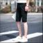 กางเกงขาสั้นสตรีทแฟชั่น Denim : สีดำ thumbnail 6