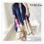 PR078 ผ้าพันคอแฟชั่น ผ้าไหม พิมพ์ลายสวย อย่างดี งานสวยคะ ขนาด กว้าง 90 ยาว 195 cm. thumbnail 3