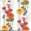 แนวภาพดอกไม้ เป็นช่อดอกป๊อปปี้เป็นสาย บนพื้นสีขาว เป็นภาพเต็ม กระดาษแนพกิ้นสำหรับทำงาน เดคูพาจ Decoupage Paper Napkins ขนาด 33X33cm thumbnail 1