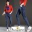 กางเกงยีนส์ยีดเอวสูงซิปมีกระเป๋าหน้าหลัง มี 2 สีคือ ยีนส์อ่อนและยีนส์เข้ม thumbnail 2