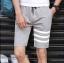 กางเกงขาสั้นแฟชั่นเกาหลี ลายทาง : สีเทา thumbnail 1