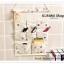 GH121 กระเป๋าผ้าแบบแขวนผนัง ทำจากผ้าฝ้าย มีช่องใส่ของจุกจิกมากมาย จะแขวนในห้องนอน หน้องทำงาน ห้องนั่งเล่น หรือห้องน้ำนอน ก็สวยเข้ากับทุกห้องคะ ขนาด : สูง 48 x กว้าง 35 cm. thumbnail 4