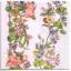 แนวภาพดอกไม้ เป็นช่อดอกไม้บนพื้นสีชมพู เป็นภาพครึ่งแผ่น กระดาษแนพกิ้นสำหรับทำงาน เดคูพาจ Decoupage Paper Napkins ขนาด 33X33cm thumbnail 1
