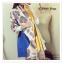 PR099 ผ้าพันคอแฟชั่น ผ้าหนานุ่ม ช่วงปลายประดับด้วยริ้ว อย่างดี งานสวยคะ ขนาด กว้าง 60 ยาว190 cm. thumbnail 2