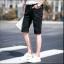 กางเกงขาสั้นสตรีทแฟชั่น Denim : สีดำ thumbnail 7