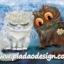กระดาษสาพิมพ์ลาย สำหรับทำงาน เดคูพาจ Decoupage แนวภาพ การ์ตูนอย่างน่ารัก แมวอ้วนขาวร้องไห้ แมวอ้วนดำเอาดอกไม้มาง้อ thumbnail 1