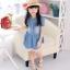 ชุดเดรสเด็กหญิง ผ้ายีนส์เนื้อนิ่ม ต่อลูกไม้สีขาวชายกระโปรง น่ารัก หวานๆสไตล์เกาหลี ญี่ปุ่น ค่ะ thumbnail 2