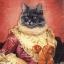 แนวภาพ Potrait แมวในชุดยุโรปโบราณ กระดาษแนพกิ้นสำหรับทำงาน เดคูพาจ Decoupage Paper Napkins เป็นภาพ 4 บล๊อค ขนาด 33X33cm สำเนา thumbnail 1