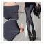 LG040 กางเกงเลคกิ้งขายาว สีเทาเข้ม ประดับด้วยผ้าลูกไม้ที่ด้านข้างกางเกง เอวยางยืด กางเกงทรงสวยคะ thumbnail 4