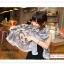 PR049 ผ้าพันคอแฟชั่น ผ้าฝ้าย แบบบาง พิมพ์ลายสวย ขนาด ยาว 170 กว้าง 80 cm. thumbnail 2