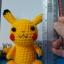 ตุ๊กตาถัก โครเชต์ 001 POKEMON PIKACHU แบบนั่ง ขนาดเล็ก thumbnail 3