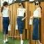 หมดค่ะ:Denim Skirt Korea design กระโปรงยีนส์ทรงดินสอ ผ่าหลัง เน้อผ้ายีนส์ยืดนะคะ ใส่สวยมากเก็บสะโพก ใส่แล้วดูหุ่นเพรียว แมตซ์กับเสื้อแบบไหนก็เข้าหมดค่ะ thumbnail 2