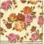 แนวภาพดอกไม้ เป็นช่อดอกกุหลาบ โทนชมพูส้มบนพื้นขาว เป็นภาพเต็มแผ่น กระดาษแนพกิ้นสำหรับทำงาน เดคูพาจ Decoupage Paper Napkins ขนาด 33X33cm thumbnail 1