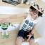 เสื้อกล้ามเด็ก สีเทามีลายหุ่นยนต์ด้านหน้า สไตล์เกาหลี น่ารักสุดๆ thumbnail 2