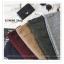 PR083 ผ้าพันคอแฟชั่น สีดำ ผ้าหนานุ่ม ช่วงปลายประดับด้วยริ้ว อย่างดี งานสวยคะ ขนาด กว้าง 60 ยาว 200 cm. thumbnail 8