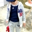 ชุดเซ็ทเด็ก เสื้อแขนยาวมีฮูทเห่ห์ๆ + กางเกงขายาว สไตล์เกาหลี thumbnail 1