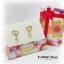 GL078 กล่องของขวัญ ลายดอกไม้สวยหวาน พร้อมโบว์สีชมพู ไว้ใส่เครื่องประดับ ต่างหู thumbnail 5