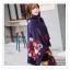 PR095 ผ้าพันคอแฟชั่น ผ้าคลุมไหล่ ผ้าหนา สีกรมท่า พิมพ์ลยสวยขนาด กว้าง 65 ยาว 186 cm. thumbnail 9