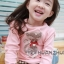 Huanzhu kids ชุดแฟชั่นเด็ก 2 ชิ้น เสื้อสีชมพู ลายแมว+ กางเกงลายสก็อต น่ารักสไตล์เกาหลี thumbnail 3
