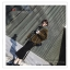 PR083 ผ้าพันคอแฟชั่น สีดำ ผ้าหนานุ่ม ช่วงปลายประดับด้วยริ้ว อย่างดี งานสวยคะ ขนาด กว้าง 60 ยาว 200 cm. thumbnail 5