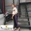 กางเกงวอล์มขายาวกางเกงฮาเร็มสีดำผ่าด้านข้างติดกระดุมที่ข้อเท้าเก๋ๆค่ะ thumbnail 2