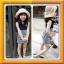 Huanzhu kids ชุดเดรส เด็กสีน้ำเงิน กระโปรงลายริ้วสีขาว-น้ำเงิน สไตล์เด็กเกาหลี น่ารัก thumbnail 1