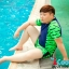 ชุดว่ายน้ำทอม Janest สีน้ำเงินเขียว โคตรเท่ห์ เด่น100เมตร [Pre-Order] S-6XL thumbnail 3