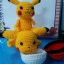 ตุ๊กตาถัก โครเชต์ 001 POKEMON PIKACHU แบบนั่ง ขนาดเล็ก thumbnail 10