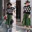 Stylenanda Pleat Metallic Skirt กระโปรงยาวคลุมเข่า เอวยางยืดอัดพลีทรอบตัวกระโปรงค่ะ งานสวยเก๋สไตล์เกาหลี ใส่ทำงาน ใส่เที่ยวได้หมดเลยค่ะ thumbnail 1