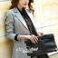 Seoul Secret Autumn Winter Gray Outer Suit เสื้อสูททรงเรียบหรู เนื้อผ้าคอตตอนสีเทาขึ้นทรงสวยอย่างดีค่ะ สีสวยดูคลาสสิก อินเทรน mix & match ได้หลายแบบเลยค่ะ งานตัดเย็บสวยใส่ทำงานเหมาะมากค่ะ thumbnail 4