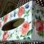 กล่องทิชชูไม้มีล็อค กล่องทิชชูยาว ทรงดอกกุหลาบเลื้อย thumbnail 3
