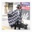 PR089 ผ้าพันคอแฟชั่น ผ้าหนาปานกลาง ช่วงปลายประดับด้วยริ้ว ขนาด กว้าง 130 ยาว 160 cm. thumbnail 5