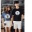 เสื้อคู่รักแขนสั้นมีลายสไตล์เกาหลี thumbnail 7