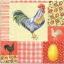 แนวภาพอาหาร ลายภาพแต่งลายเล็กๆ ไก่ ไข่ ลายผ้า ภาพโทนสีครีม เป็นภาพ 4 บล๊อค กระดาษแนพกิ้นสำหรับทำงาน เดคูพาจ Decoupage Paper Napkins ขนาด 33X33cm thumbnail 1