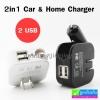 ที่ชาร์จ 2in1 Car & Home Charger 2 USB