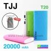 Power bank TJJ T20 แบตสำรอง 20000 mAh + ถุงผ้ากำมะหยี่ สีเทา ลดเหลือ 275 บาท ปกติ 720 บาท