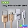 สายชาร์จ iPhone 5/6 (สายถัก) Golf Alloy-braided Cable ลดเหลือ 95 บาท ปกติ 240 บาท
