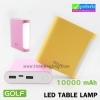 Power Bank GOLF 10000 mAh LED TABLE LAMP D14 ลดเหลือ 410 บาท ปกติ 1,025 บาท