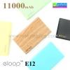 ELOOP E12 Power bank แบตสำรอง 11000 mAh ราคา 449 บาท ปกติ 1,290 บาท