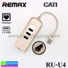 ที่ชาร์จ REMAX 3 USB HUB RU-U4 ปกติ 650 บาท ลดเหลือ 280 บาท