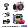 กล้องติดรถจักรยานยนต์-กีฬา D10 Action Camcorder D10 ราคา 690 บาท ปกติ 2,750 บาท