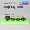 เลนส์ Lens 4 in 1 Lieqi LQ-008 เพิ่มเลนส์ CPL ช่วยลดแสงสะท้อน ราคา 330 บาท ปกติ 850 บาท