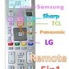 รีโมทเซอร์วิส 5 in 1 ( LG + Samsung + Sharp + Panasonic +TCL)