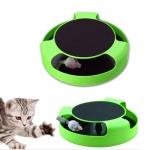 ของเล่นแมว catch-the-mouse สีเขียว