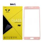 ฟิล์มกระจกนิรภัย Samsung Note 5 เต็มจอ ยี่ห้อ Diamond สีชมพู