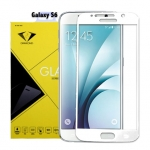 ฟิล์มกระจกนิรภัย Samsung S6 เต็มจอ ยี่ห้อ Diamond สีขาว