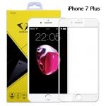 ฟิล์มกระจกนิรภัย iPhone 7 Plus แบบเต็มจอ สีขาว ยี่ห้อ Diamond